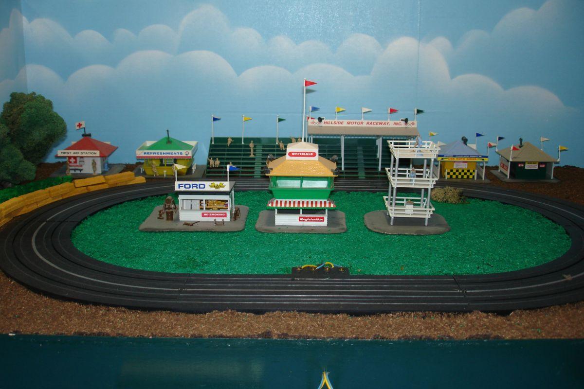 Ho Scenery Slot Car Racing Track Layout Plastic Model Building Kits